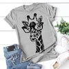 Summer giraffe print T shirts 2020 New for women cartoon casual t-shirt lady short sleeve tops tees shirt female clothes