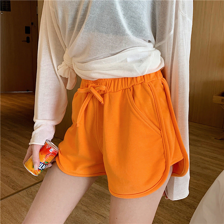 summer Women Short Pant Casual Lady All-match Loose Solid Soft Cotton Leisure Female Workout Waistband Skinny Stretch Shorts