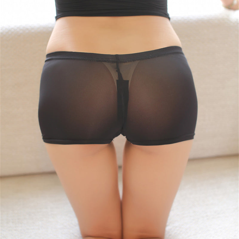 Women Sexy Night Club Pencil Skirts See Through Temptation Cute Short Mini Micro Open Crotch Sex Shorts Tight Package Hip Skirt