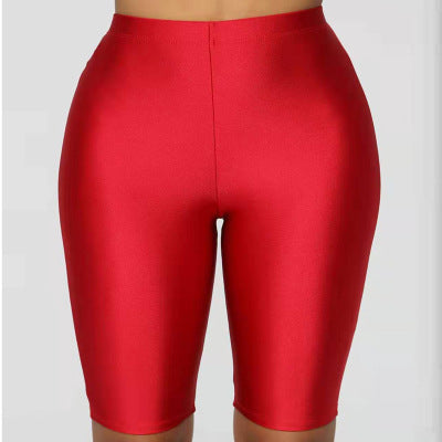 Women Cycling Shorts Dancing Gym Biker Slim Active Sports Solid Skinny Summer