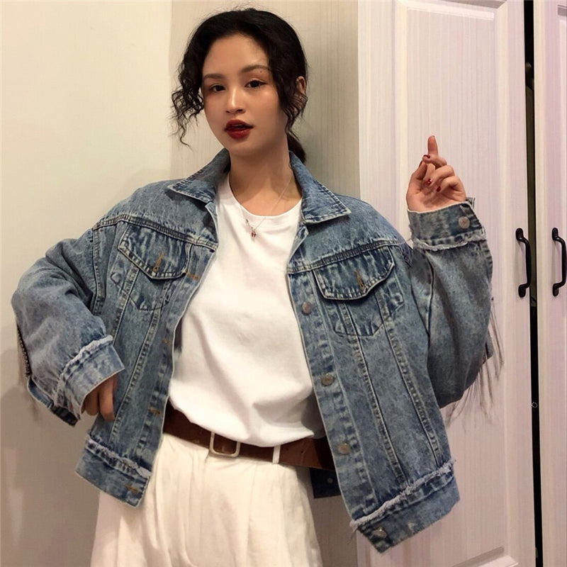 Cheap wholesale 2019 new autumn winter Hot selling women's fashion casual Denim Jacket BP1639