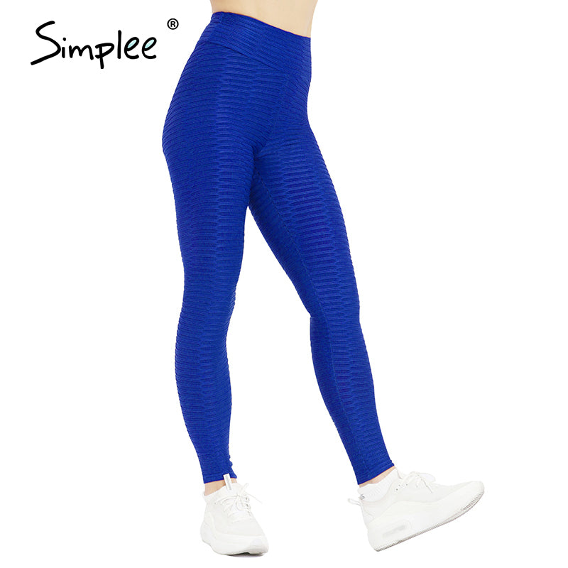 Simplee High Waist Fitness Leggings Women Workout Push Up Legging Solid Bodybuilding Jeggings Women Pants