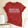 SOCIAL DISTANCING IF YOU CAN READ THIS YOU'RE TOO CLOSE Letter Women T-shirt Short Sleeve Summer T-shirt Tees Tops Ropa De Mujer