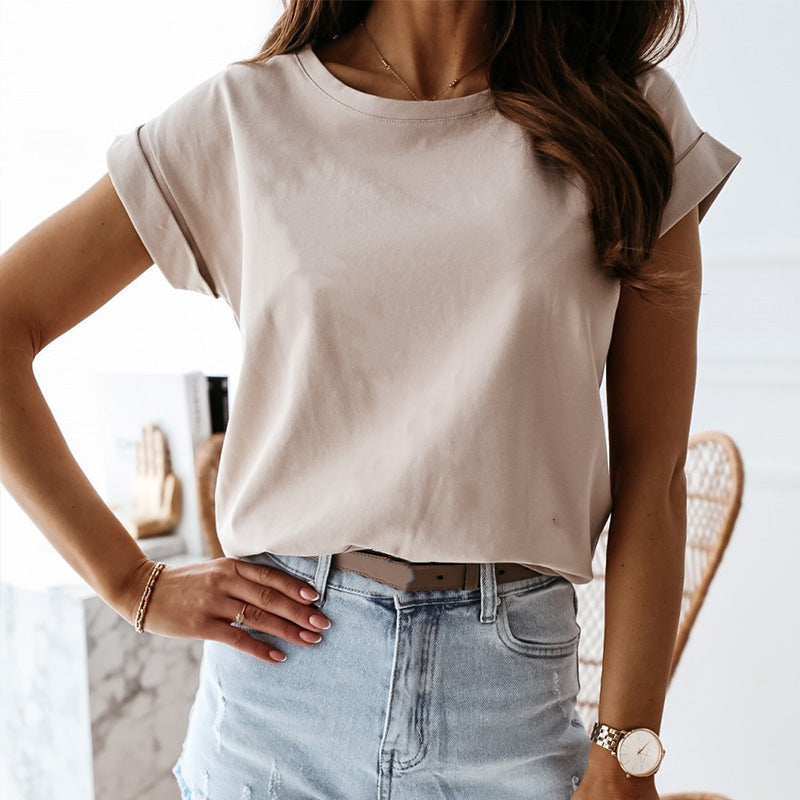 Summer Loose Black Women's T shirt Solid O-neck Short Sleeve 2020 Fashion Tops Female New Casual Streetwear Lady T-shirts White