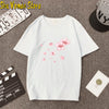 2020 Fashion Pink Cherry Blossom T-Shirt Summer cute Women t-shirt maiden super lovely flowers art print girl Tops ladies casual