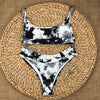 Bikini Leopard Bathing Suit High Waist Swimsuit Push Up Plus Size Beachwear Bandage Swimwear Women Bandeau Biquini