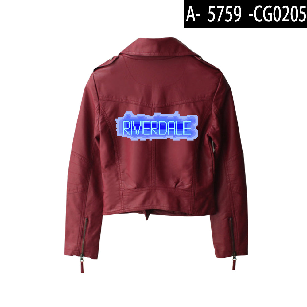 Riverdale PU Jackets Printed Southside Riverdale Serpents Jacket Women Riverdale Serpent Streetwear Leather Jacket