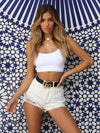 2019 Sexy Women Vest Crop TopSleeveless Tanks Beach Women Sports Tank Tops Bodycon Party Backless Spaghetti Straps Clubwear
