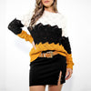 Women's Sweaters Ladies Autumn Winter Casual Knitwear Slim Fit Long Sleeve Stripe O-neck Knitted Sweater Tops A40#