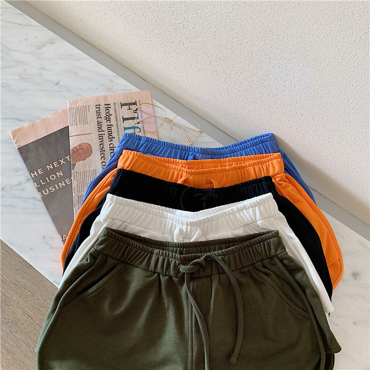 New summer Women Short Pant Casual Lady All-match Loose Solid Soft Cotton Leisure Female Workout Waistband Skinny Stretch Shorts