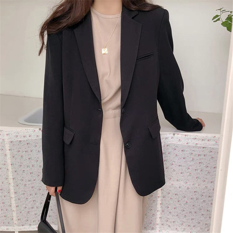 Sungtin Spring Women Blazer Jacket Casual Khaki Work Suit Coat Office Lady Pockets Long Sleeve Slim Blazers Female