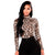 Women hot sale Leopard print Bodysuits rompers sexy slim Turtleneck long sleeve autumn set Leopard playsuits top Clubwear 2019