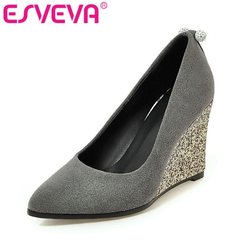 Flock Women Pumps Spring Autumn Night Club Shoes Wedges High Heel Women Shoes Elegant Wedding Shoes Big Size 34-43-SHOES-SheSimplyShops
