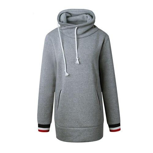 BHflutter Women Winter Clothing Hooded Sweatshirts Jackets Solid Long Sleeve Casual Hoodies Female Red Tracksuits