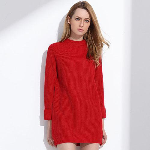Femme Sweater Dress Women Winter Sweaters And Long Pullover Women Jumpers Knit-Dress-SheSimplyShops