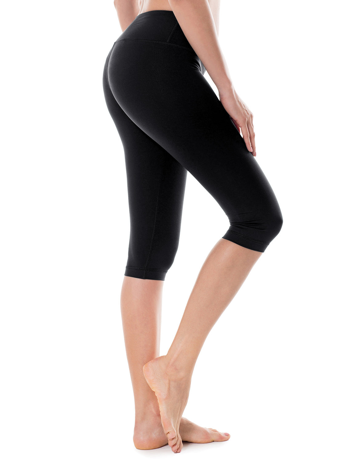 Women's Running Tights fit Workout Capris Cropped Yoga Pants with Pockets
