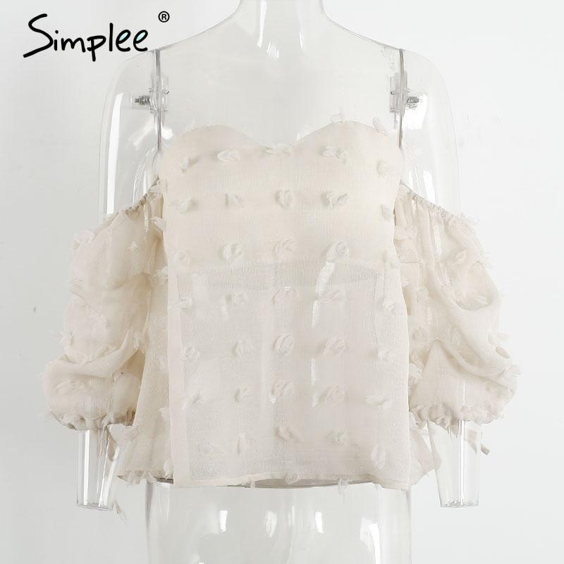 Off shoulder ruched sleeve blouse shirt Sexy backless cool blouse Beach split blouse women tops street wear-Blouse-SheSimplyShops