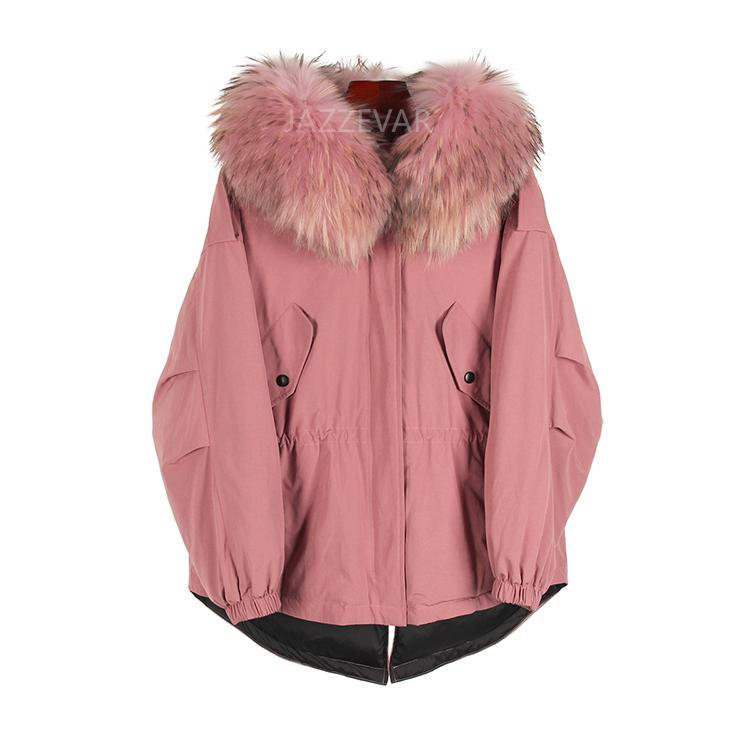 New Fashion winter Women's down jacket oversize Dovetail 90% white duck down coat large real raccoon fur Hooded Parka-Coats & Jackets-SheSimplyShops