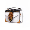 Fashion Metal Lion Head Mini Small Square Pack Shoulder Bag Crossbody Package Clutch Women Designer Wallet Handbags Bolsos Mujer
