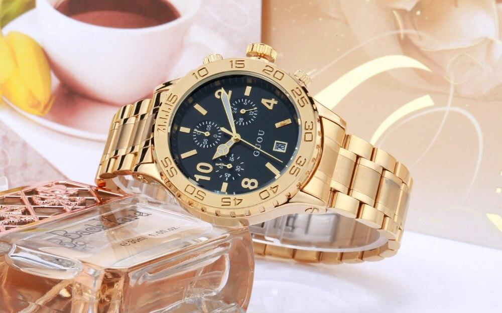 Calendar Gold Luxury Watch Waterproof Man Ladies Gift Quartz Sports watch Exquisite Wrist watches
