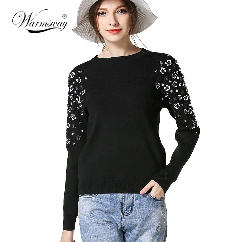 Winter Fashion Thick Warm Pullover Sweater Computer Knitted Beading Women Celebrity-SWEATERS + CARDIGANS-SheSimplyShops