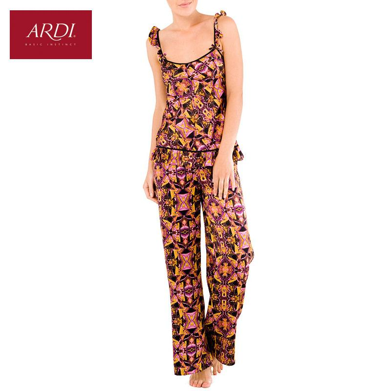 Silk Pajama set consists of gorgeous top and pants-PANTS-SheSimplyShops