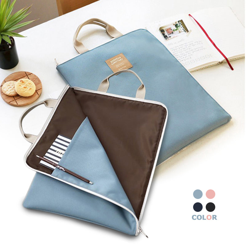 A4 Oxford File Folder Bag Men Portable Office Supplies Organizer Bags Casual Ladies Tote Document Handbag for Women