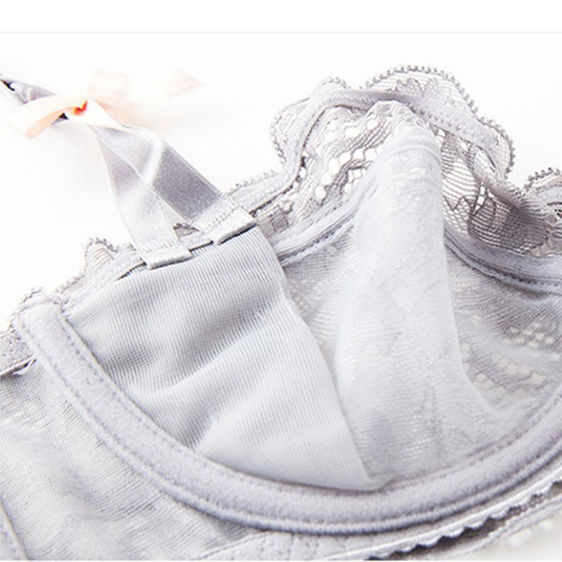 Ladies Ultra-thin Lace Sexy Underwear Half Cup Comfortable Breathable Bra Sets-UNDERWEAR-SheSimplyShops