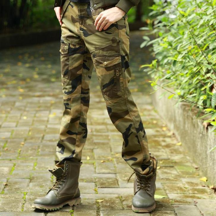 Autumn Camouflage Pants for Women Slim Cotton Casual Pants Female Military Pants Pockets Zip Camouflage Ladies Pants-PANTS-SheSimplyShops