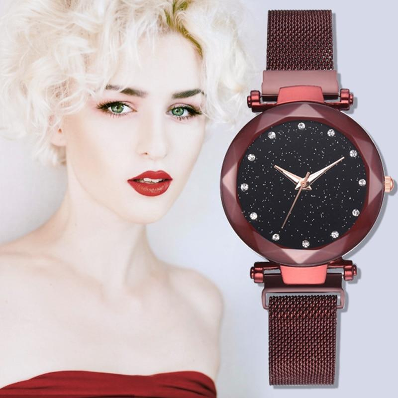 2019 Top Brand Women Watches Starry Sky Luxury Fashion Diamond Magnet Strap Ladies Watches Women's Quartz Wristwatch reloj mujer
