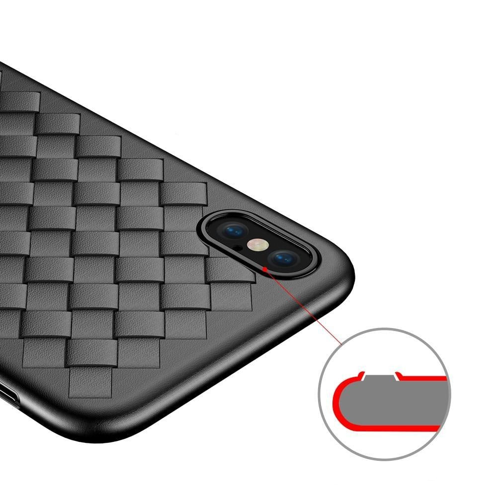 FLOVEME Super Soft Phone Case For iPhone 8 X XS Max Luxury Grid Cases For iPhone 6 6s 7 8 Plus XR XS Cover Silicone Accessories-SheSimplyShops