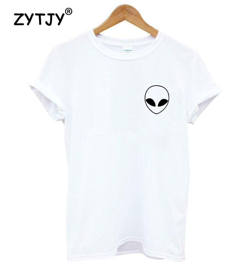alien Pocket Print Women tshirt Cotton Funny Casual Hipster t Shirt For Lady Girl Top Tees Hipster Drop Ship TZ203-952