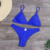 2020 Summer Bikini Set Swimwear Women Solid Sexy Beach Wear Low Waist Biquini Badpak Dames