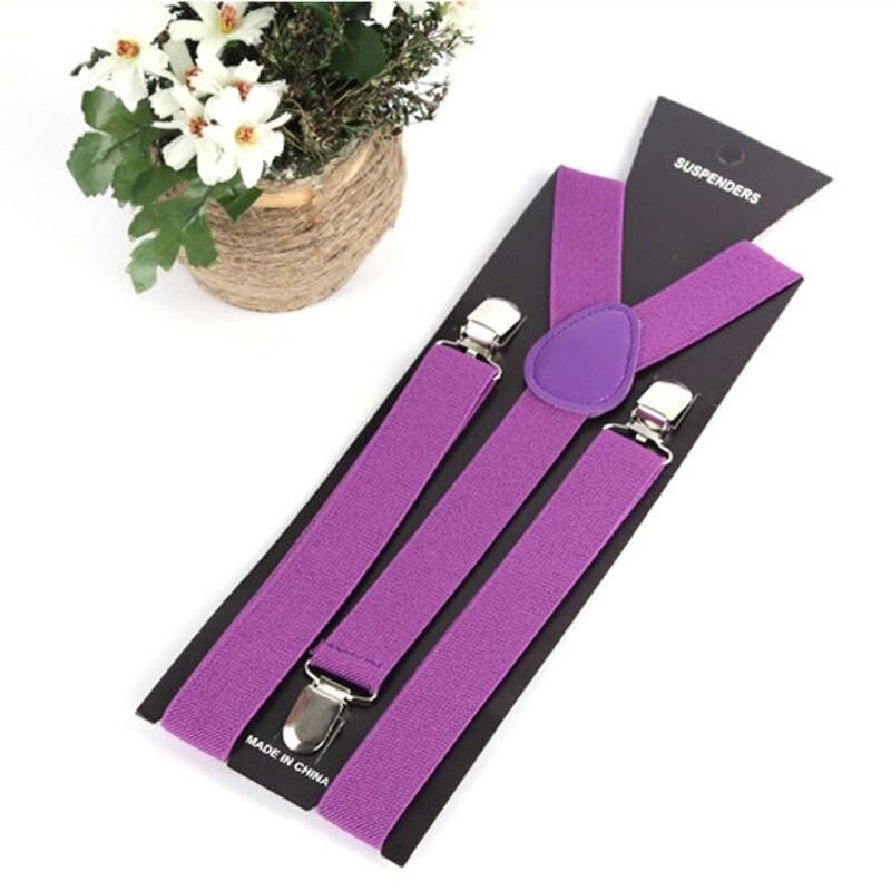 17 Colors Women Lovely Elastic Adjustable Strap Clip Suspenders Clothing Accessories