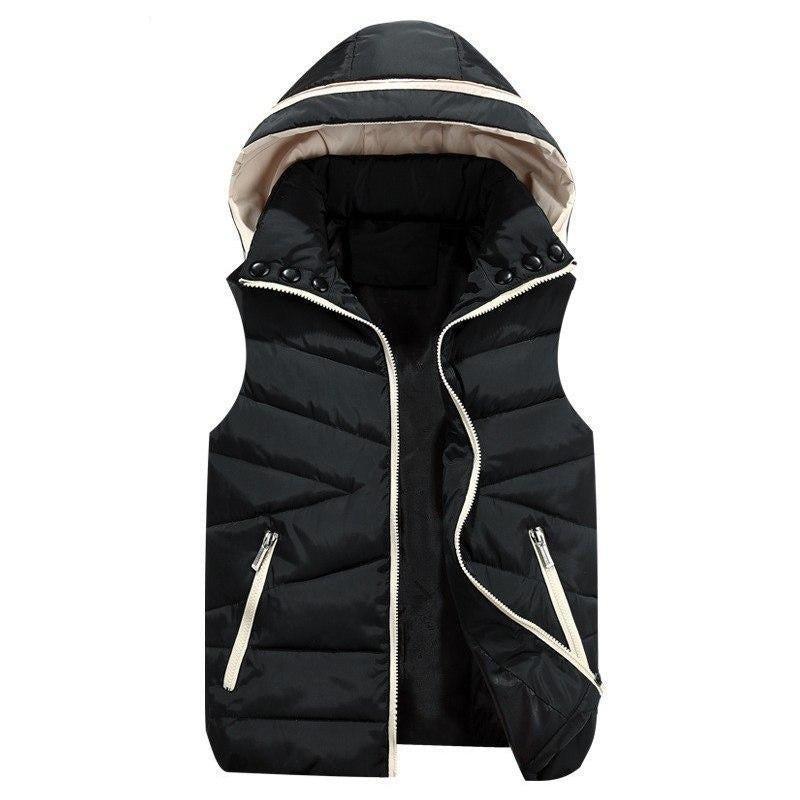 Autumn winter vest women 2018 new fashion hooded sleeveless down cotton jacket Parka thick red Keep warm Padded vests Female 536