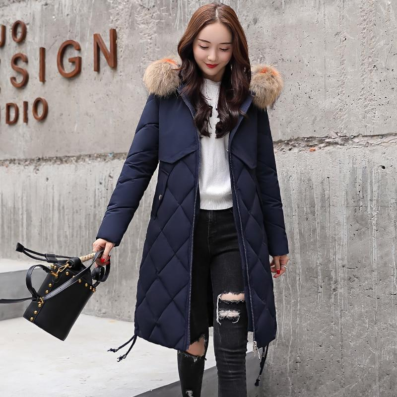 Outwear For Women Winter Jacket Long Warm Hooded Womens Winter Jackets With Fur Collar Female Winter Coat Parka Chaqueta Mujer