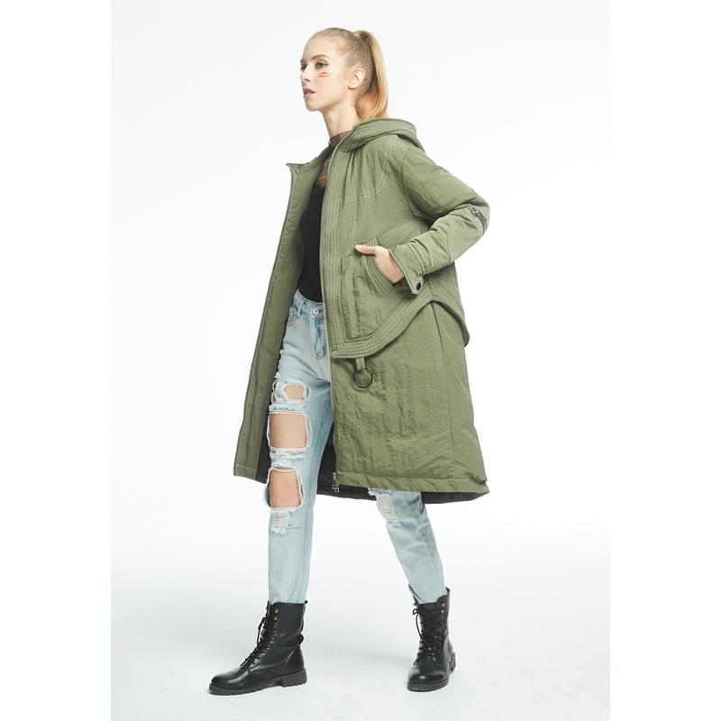 New Winter Down Parka Fashion Green and Pink Down Coat-Coats & Jackets-SheSimplyShops