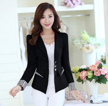 J63297 Blazer Office Lady Suit Long Sleeve Women Jacket Elegant Slim Blazers and Jackets