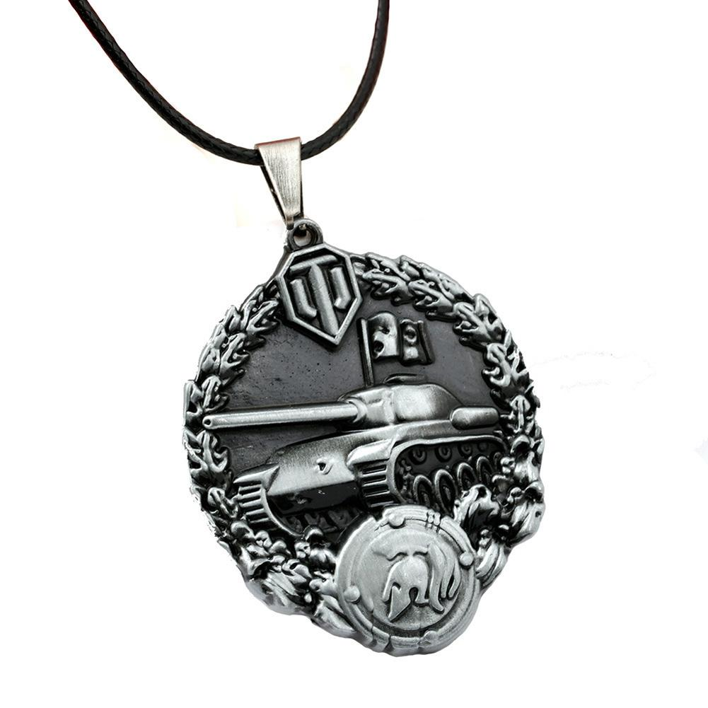 World of Tanks Necklace Calm Medal Pendant Medal of Raglan Men Women Game Choker Jewelry Accessories-NECKLACES-SheSimplyShops