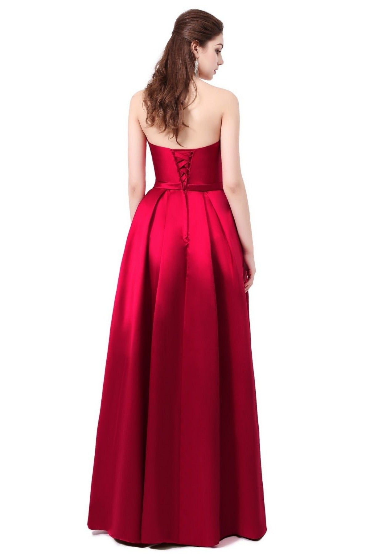 Vestido SSYFashion Formatura Bridal Strapless Sleeveless Wine Red Danni Slim Long Prom Dress Custom Party Formal Evening Gown