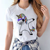Unicorn Female T Shirt Women Short Sleeve Summer Tops Casual Tee Shirt Homme Harajuku Cute T-shirts Woman Clothing