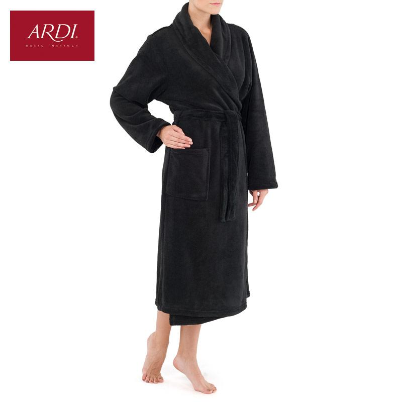 Warm dressing gown from super-soft fleece micro velour with double sided pile-Dress-SheSimplyShops