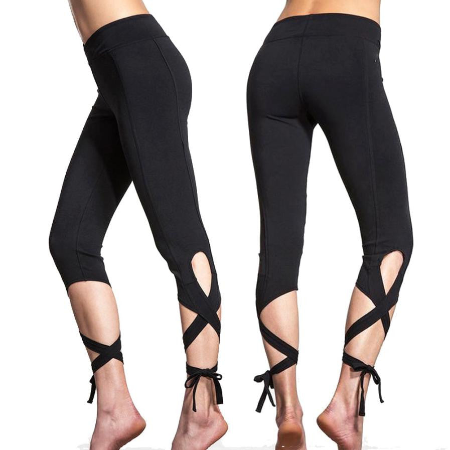 Leggings Sport Women Fitness Workout Cropped Trousers Leggings Mallas Quick Dry 3/4 Dancing Pants Slim Ballet Trousers #5$