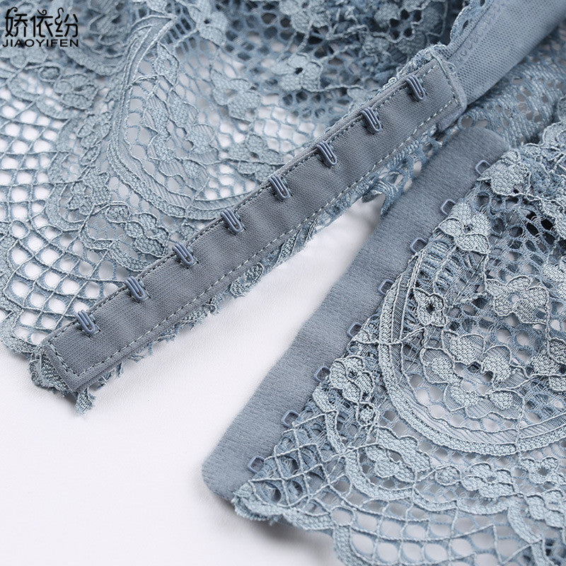 Sexy Bralette Ultra thin Summer Hollow Breathable Triangle Cup Lace Bra Wire Free Transparent Women Underwear Push Up Bra