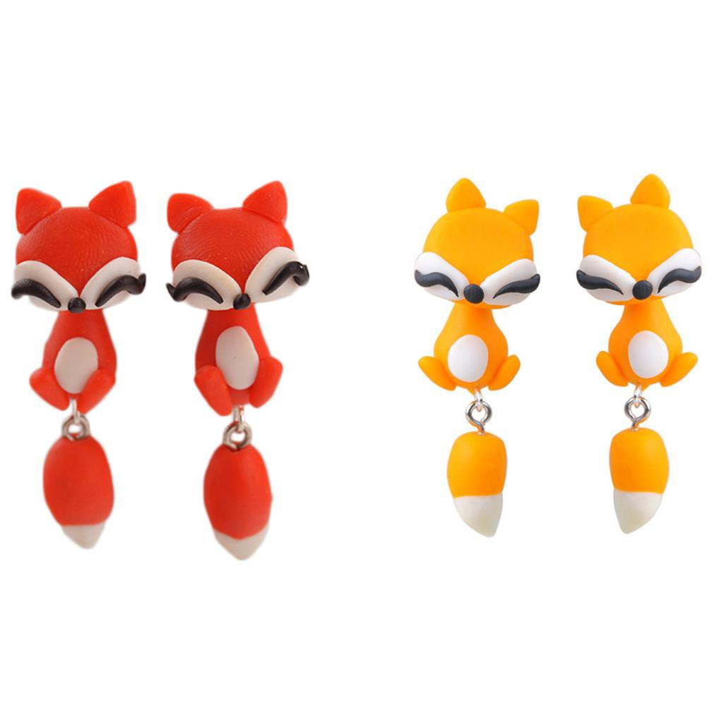 Lovely Fox Cats Earrings-EARRINGS-SheSimplyShops