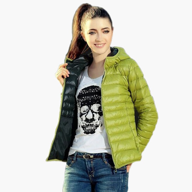 Chaquetas Mujer Women Jackets Hooded Candy Color Casaco Feminino Black/Red/Blue/Coffe/Light Green XS-XL