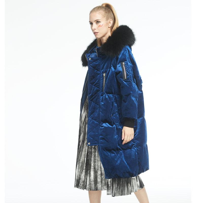 Thick Winter Down Coat Deep Blue New Jacket Famous-Coats & Jackets-SheSimplyShops