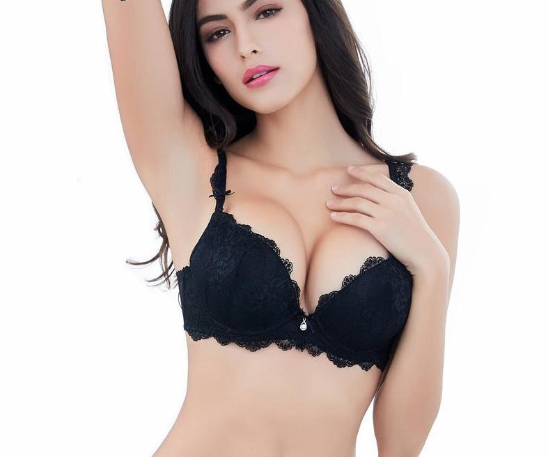 Sexy lace push up bra gathers underwear for women-UNDERWEAR-SheSimplyShops