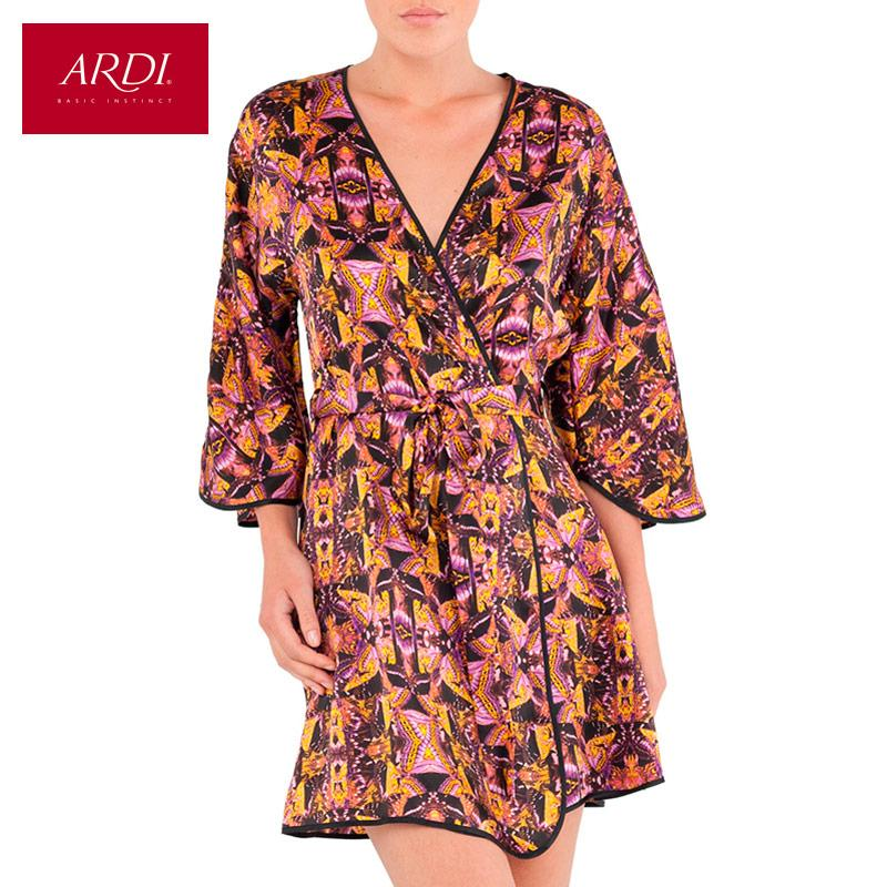 Short silk dressing gown color Lavender-Dress-SheSimplyShops