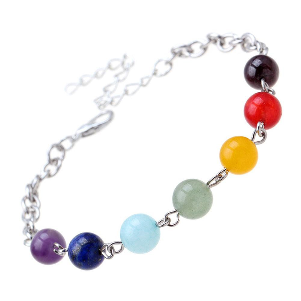 7 Color Natural Stone Buddha Beads Energy Gradient Color Beads Bracelet For Women-BRACELETS-SheSimplyShops